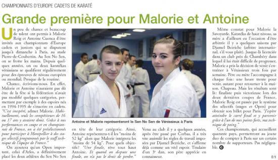 Expressions Vénissieux selection Europe Mallorie et Antoine