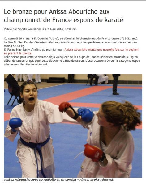 Sportsvenissians 2 avril 2014